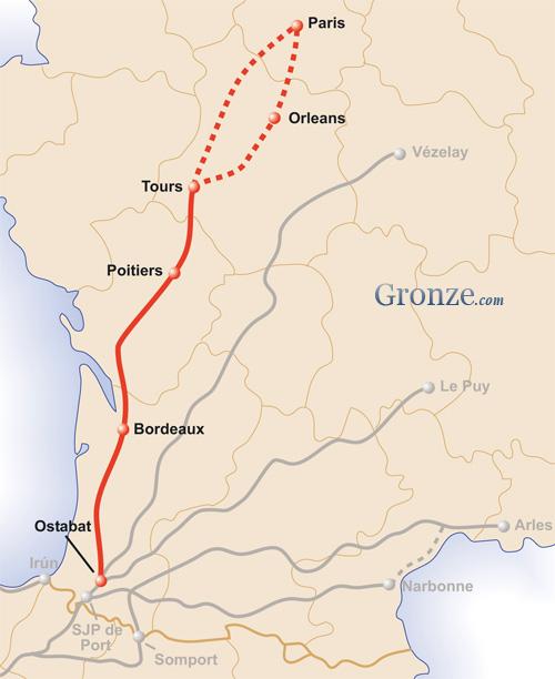 Mapa Camino Tours Santiago