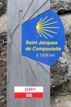 Señalización del Camino de Le Puy (GR 65)