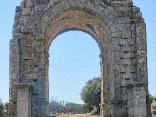 Arco romano de Cáparra, Vía de la Plata