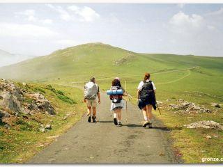 Hacia el Collado de Bentartea, etapa de Saint Jean a Roncesvalles