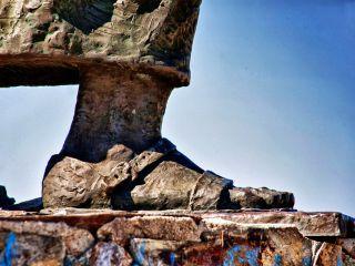 Monumento al Peregrino en el Alto de San Roque
