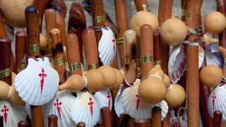 Bordones para peregrinos del Camino de Santiago