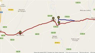 Track de una etapa del Camino de Santiago