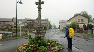 Cruz a la entrada de Anglès