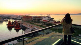 Atardecer desde el centro comercial A Laxe, Vigo