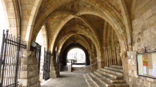 Atrio de acceso a la catedral de Santander