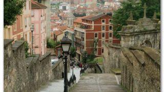 Bajando al casco histórico de Bilbao