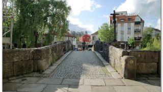 Puente medieval sobre el río Bermaña, Caldas de Reis