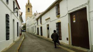 Calle en el centro de Medina de las Torres