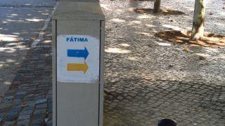 Por ahora la señalización coincide con la del camino a Fátima