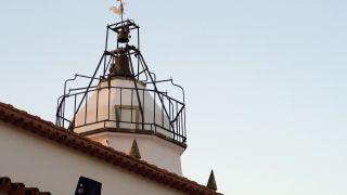 Campanario sobre la torre de la iglesia de Alvaiázere