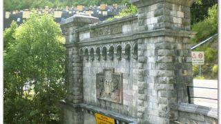 Boca sur del túnel ferroviario de Somport, Canfranc-Estación