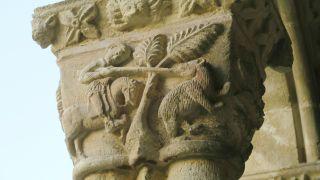 Capitel del claustro de Santa María la Real de Nieva