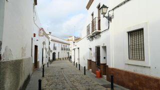 Casas blancas en Trigueros