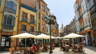 Calle del casco antiguo de Oviedo