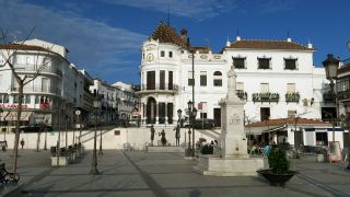 El edificio del Casino en la plaza del Marqués de Aracena