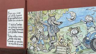 Mural con poema en Cifuentes de Rueda