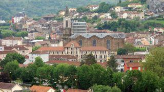 Vista de Decazeville desde el Camino