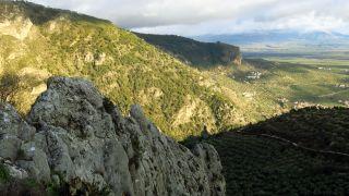 Vistas desde la ermita de San Antón en Moclín