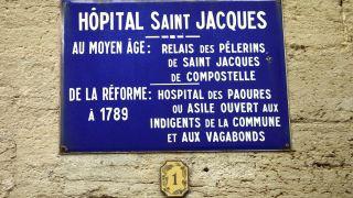 Placa del hospital Saint-Jacques, Gallargues-le-Montueux