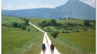 De camino a Salinas de Ibargoiti