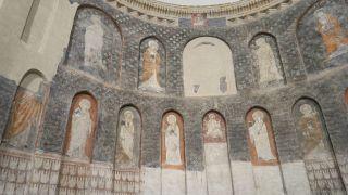 Interior de la iglesia de Santiago en Alcazarén