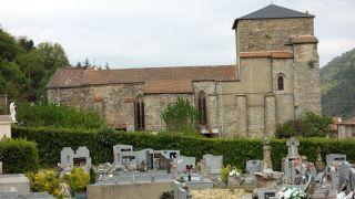 Iglesia de Saint-Pierre desde el cementerio, Joncels