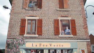 Fresco con artistas franceses bebiendo absenta, Le Grand-Lemps