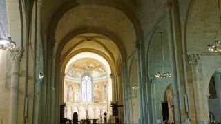 Nave de la catedral de Lescar