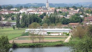 Vista de Livinhac-le-Haut desde la llegada del Camino