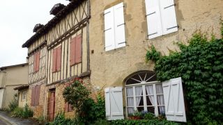 Detalle de antigua casa, Manciet