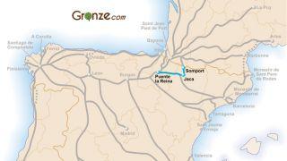 Mapa del Camino Aragonés