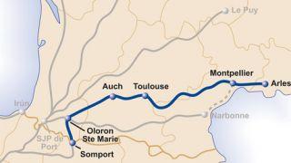 Camino De Santiago Mapa Etapas.Camino De Arles Camino De Santiago Gronze Com