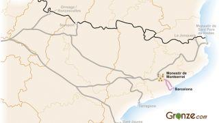 Mapa del Camino de Santiago de Barcelona a Montserrat
