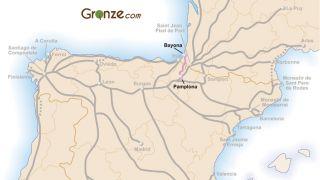 Mapa del Camino de Baztan