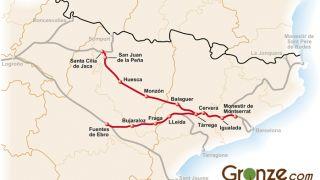 Mapa del Camino de Santiago Catalán
