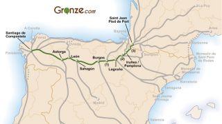Mapa del Camino Francés