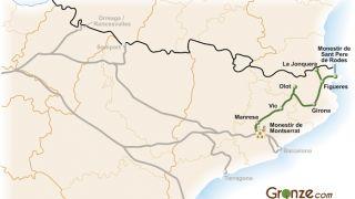 Mapa del Camino de Santiago de Girona
