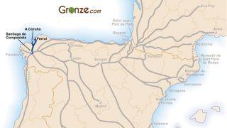 Mapa del Camino Inglés
