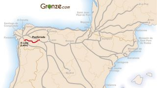 Mapa del Camino de Invierno