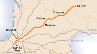 Mapa del Camino de Le Puy