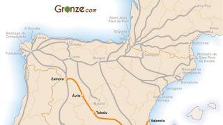 Mapa del Camino de Levante