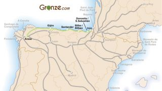 Mapa del Camino del Norte