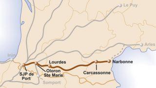 Mapa del Camino del Piamonte
