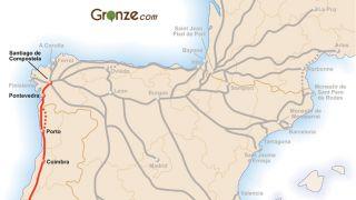 Mapa del Camino Portugués