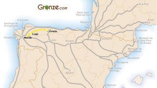 Mapa del Camino Primitivo