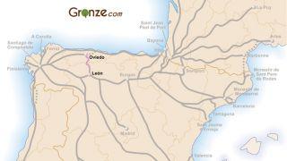 Mapa del Camino del Salvador