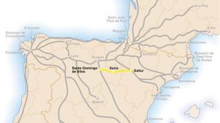 Mapa del Camino Castellano Aragonés