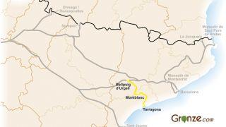Mapa del Camino de Santiago de Tarragona