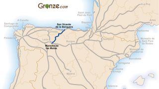 Mapa del Camino Vadiniense